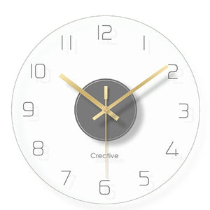 Modern Glass Wall Clock - Level Up Decor