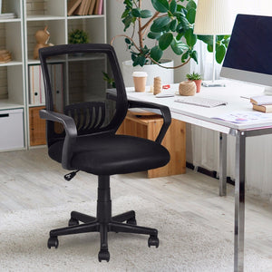 Modern Ergonomic Mid-back Chair - Level Up Decor