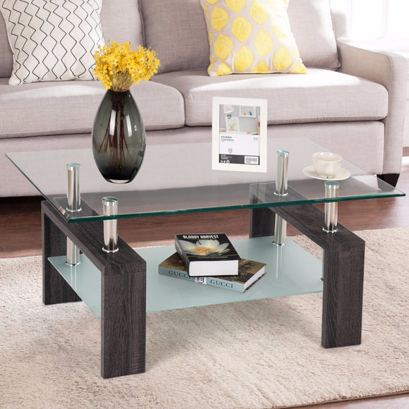 Tempered Glass Coffee Table - Level Up Decor