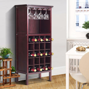 Retro Wood Wine Cabinet - Level Up Decor