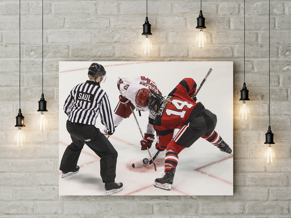 Hockey Face off - Level Up Decor