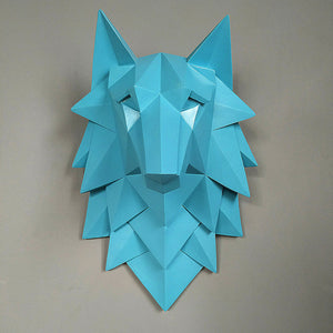 Geometric Wolf Head - Level Up Decor