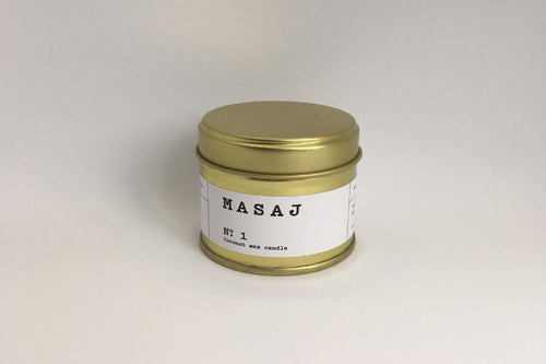 MASAJ x Evermore Candle in Leather, Amber and Black Pepper