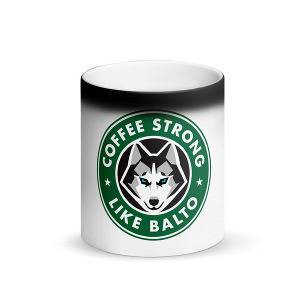 Coffee Strong Matte Black Magic Mug