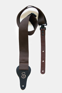 Twist-free Guitar Strap (Brown)