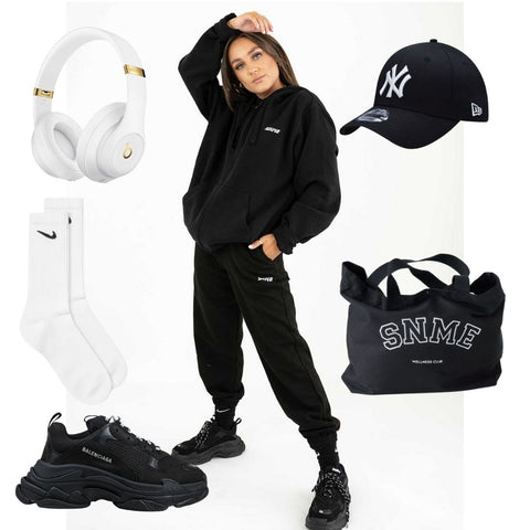 The mix and match black tracksuit