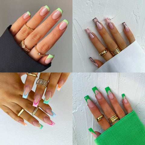 funky french nails
