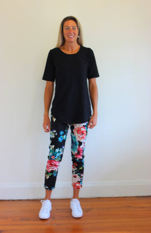Flower Power 7/8 pant - Red