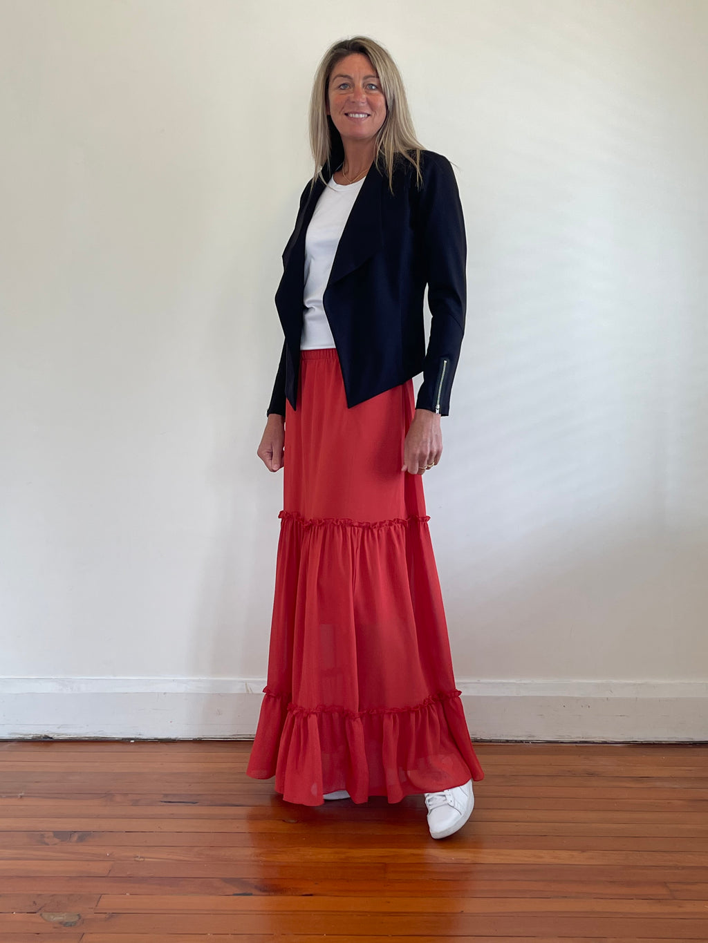 Mia Maxi Skirt - Terracotta