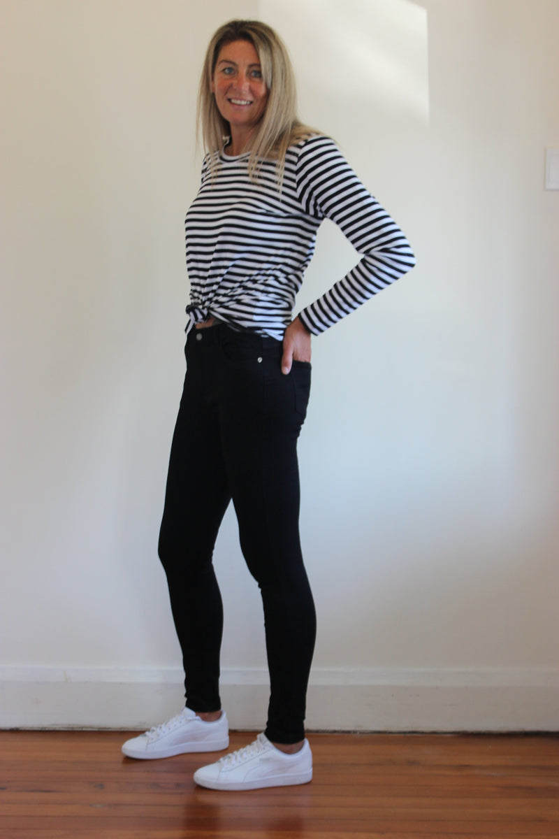 Rocker Black Skinny Jean