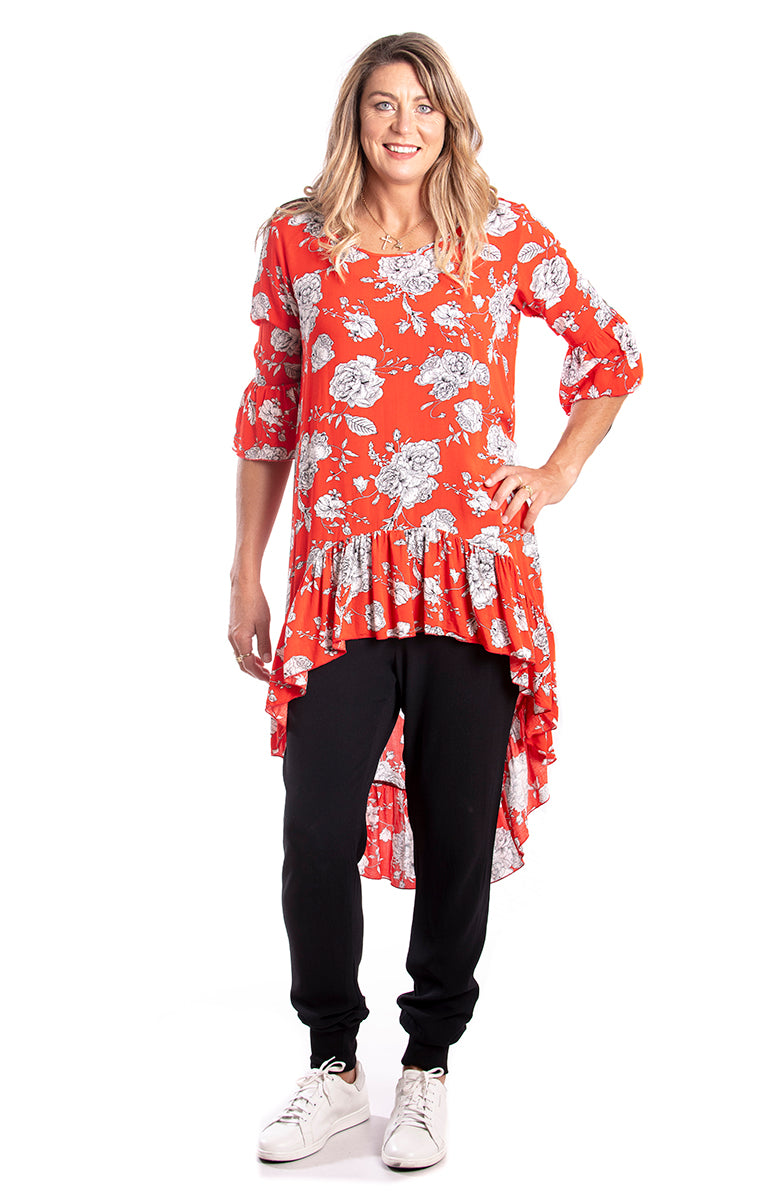 Flow Tunic Red
