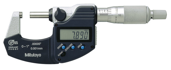 Mitutoyo 293-340-30 Coolant Proof Micrometer, 0-1in 0-25.4mm - QLD Calibrations