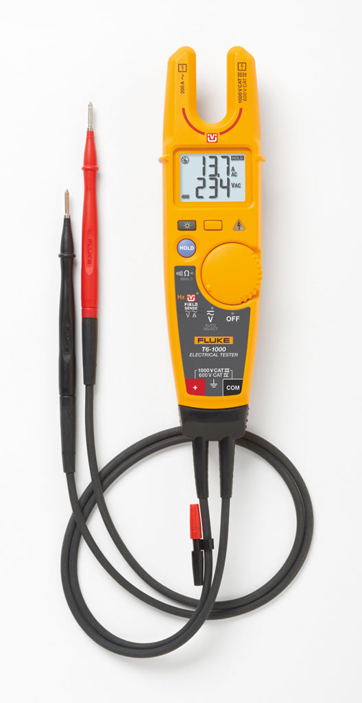 Fluke T6-1000 Electrical Tester w. FieldSense Flat - QLD Calibrations