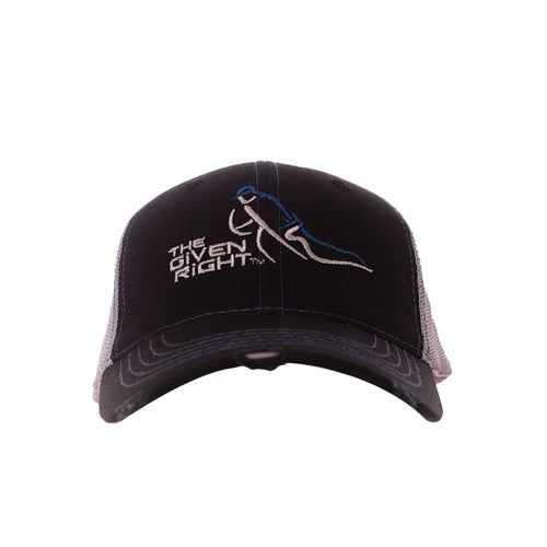Black and Gray TGR Trucker Hat