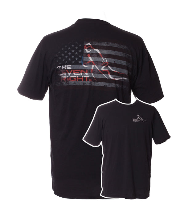 Black TGR American Flag logo Shirt