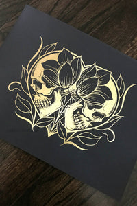 Til Death Do Us Part Gold Foil Print - Curiobella