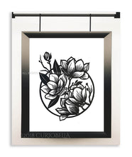 Load image into Gallery viewer, Magnolia Linocut Print - Curiobella