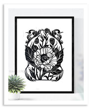 Load image into Gallery viewer, Poppy Linocut Print - Curiobella