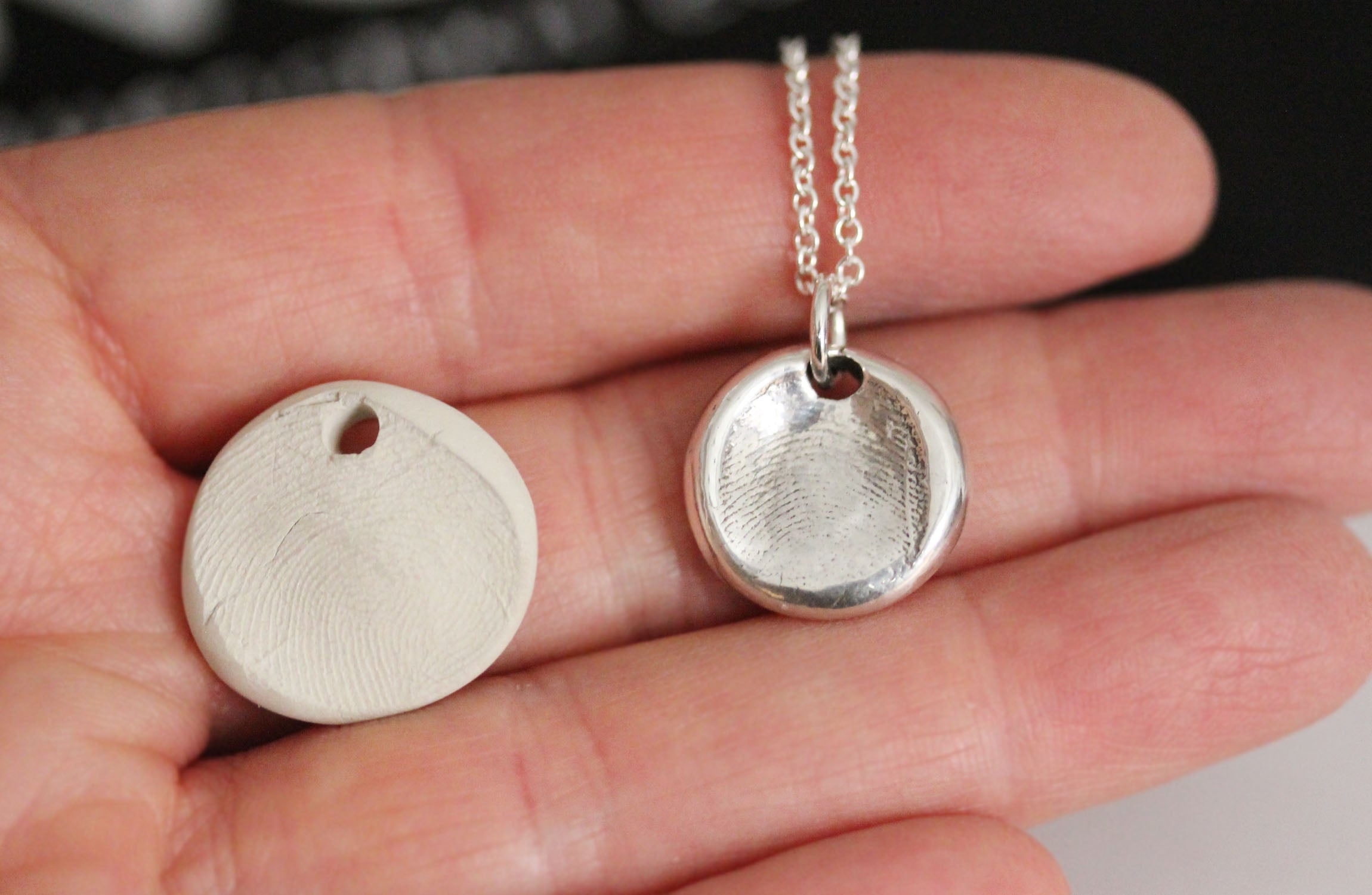Make Your Own Fingerprint Charm Kit