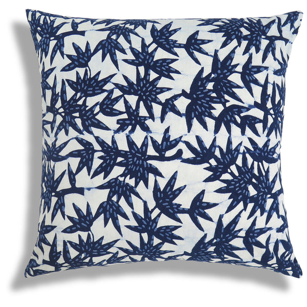 Bamboo Forest Pillow in Indigo