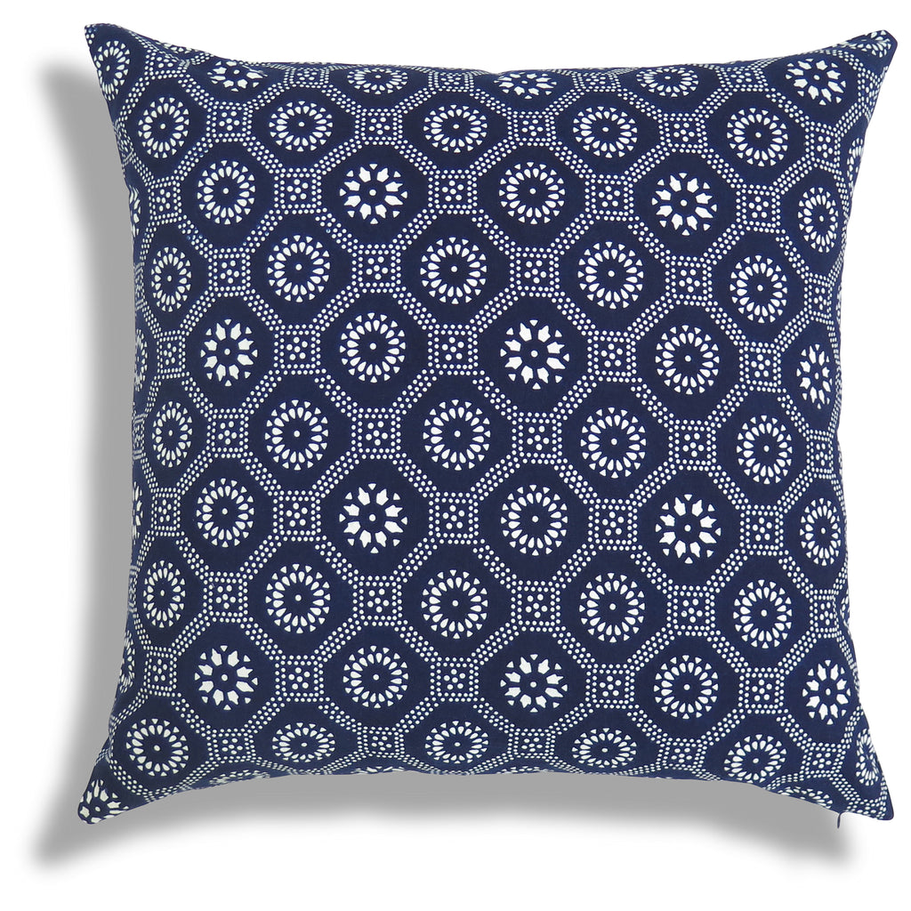 Honeycomb Pillow in Indigo