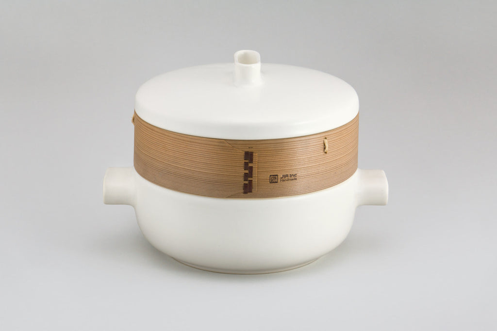 JIA Inc Steamer with Terracotta Steamer Basket