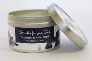 Inspirational Candle - Grapefruit and White Floral