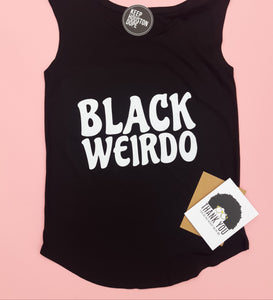 BLACK WEIRDO SLEEVELESS SHIRT