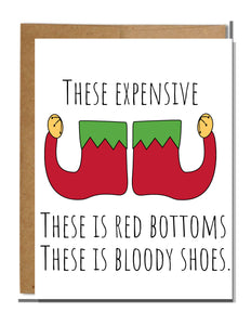 Bloody Shoes Christmas Card