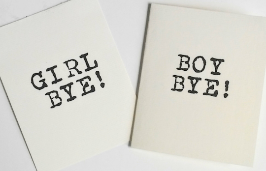 Boy Bye/ Girl Bye Greeting Card