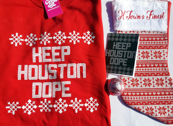 Keep Houston Dope Christmas Sweatshirt