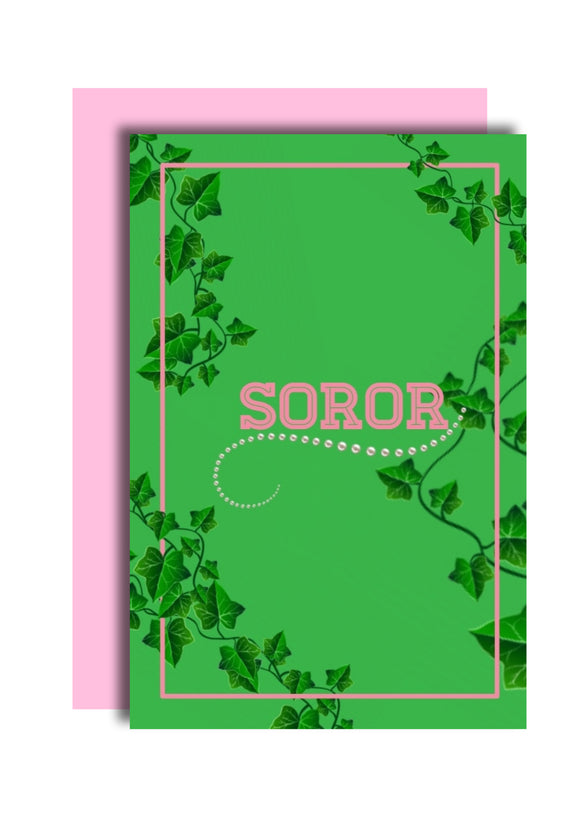 Soror AKA Inspired Greeting Card