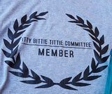 Itty Bitty Titty Committee Member Crop Top