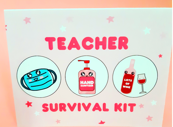Teacher Survival Kit Greeting Card