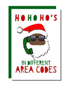 Ho's In Different Area Codes Holiday Card