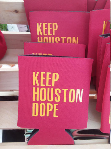 Keep Houston Dope Can Cooler