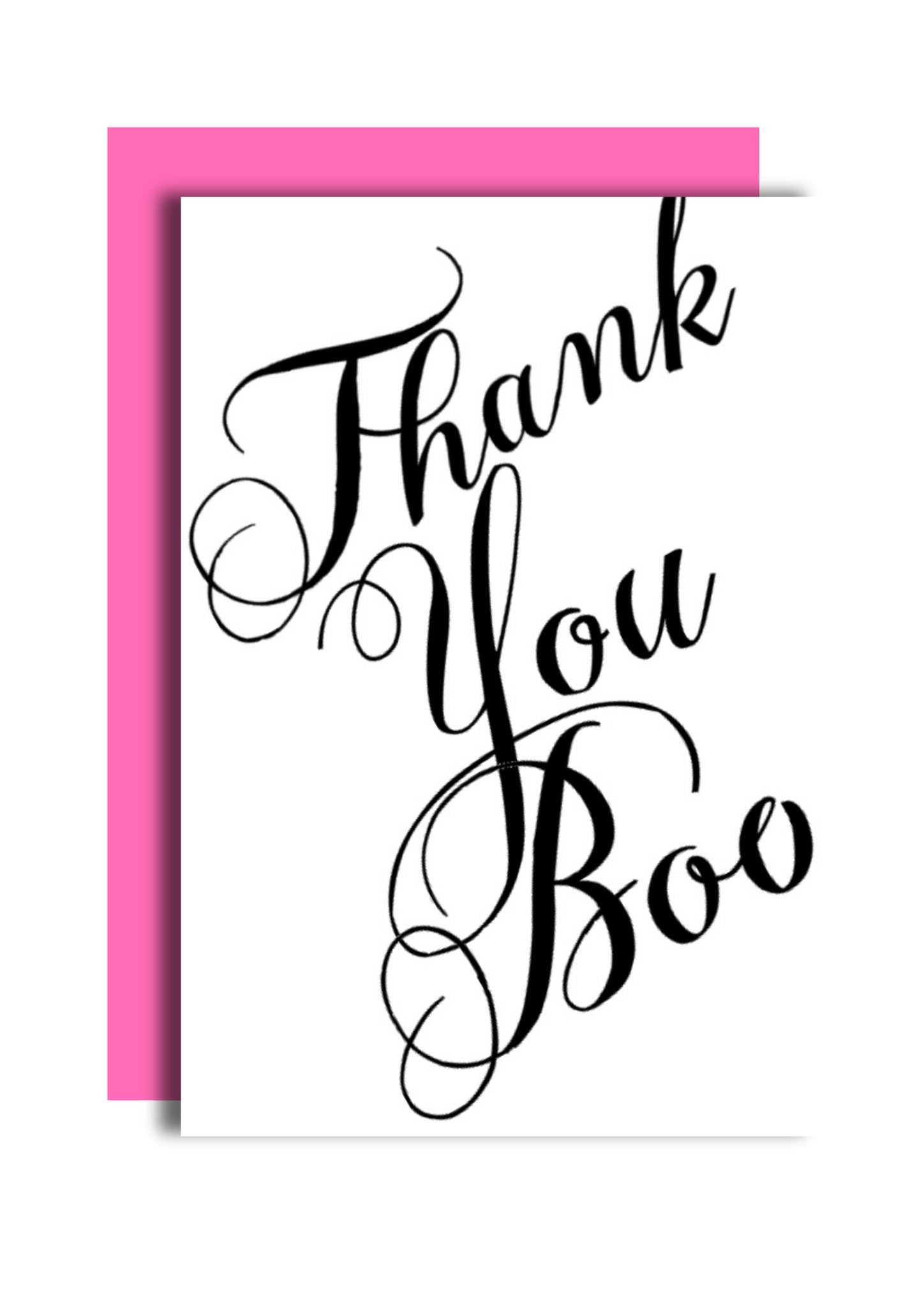 Thank You Boo Greeting Card
