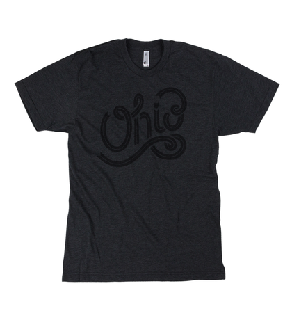Cursive Ohio T-shirt - Black