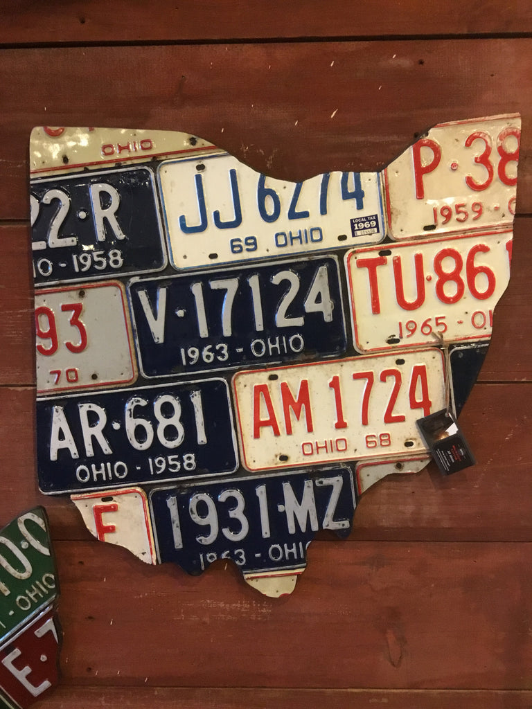 License Plate Wall Plaque Large