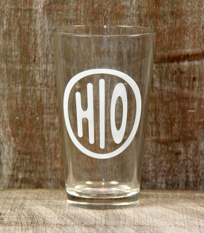 Pint Beer Glass - Ohio