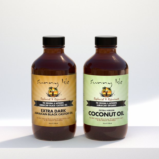 Extra Dark Jamaican Black Castor Oil & Coconut Oil Bundle