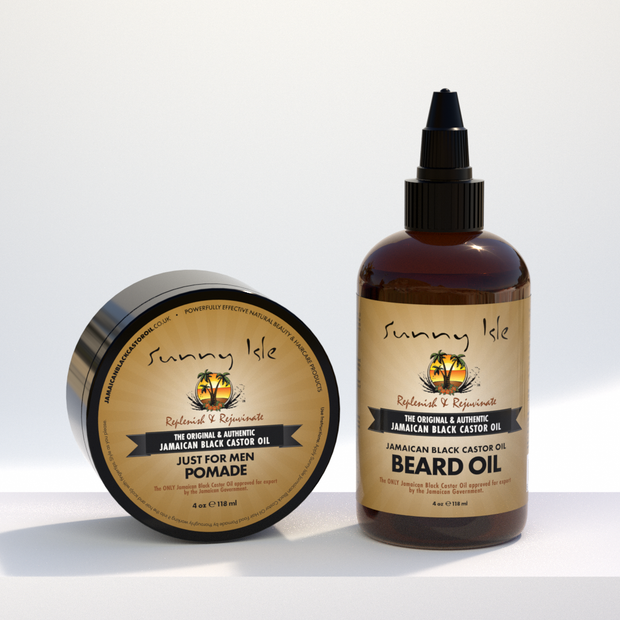 Jamaican Black Castor Oil Beard Oil & Pomade for Men Bundle