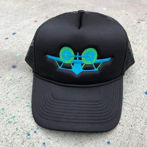 SMA Plane Trucker Hat - Black