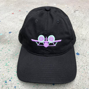 SMA Plane Dad Hat - Black