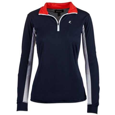 Trista Women's Long Sleeve Functional Shirt- Navy