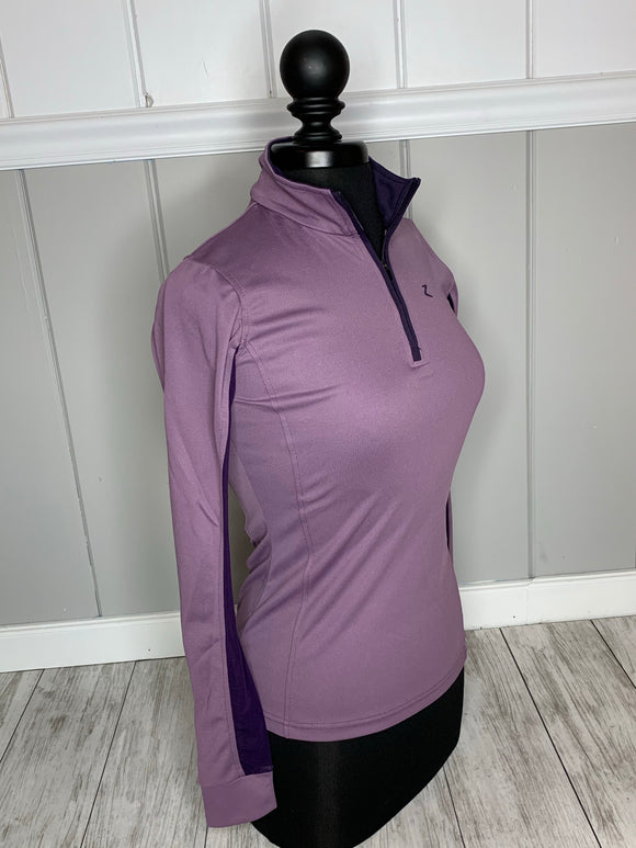 Trista Women's Long Sleeve Functional Shirt- Purple