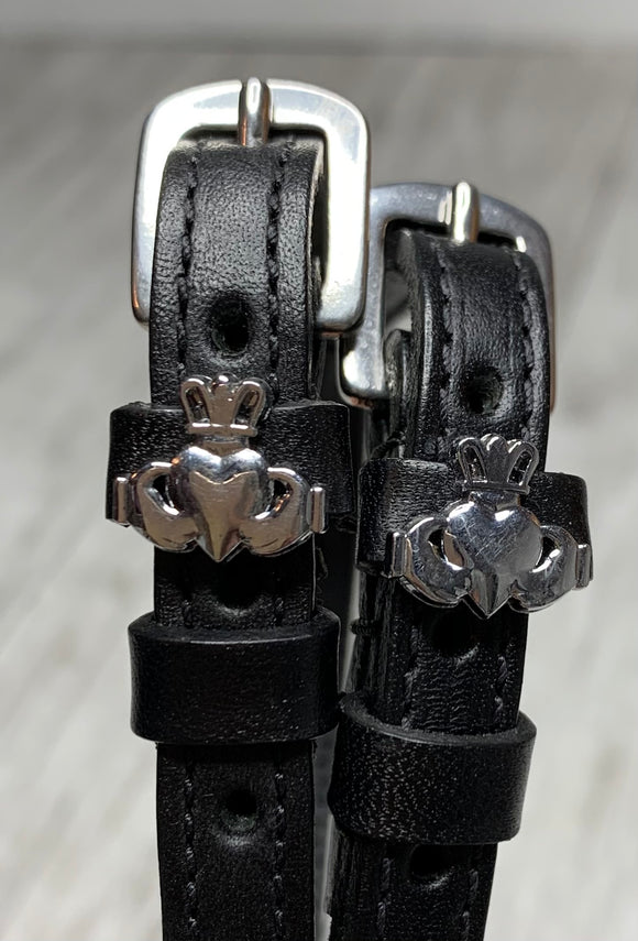 Claddagh Silver Spur Straps