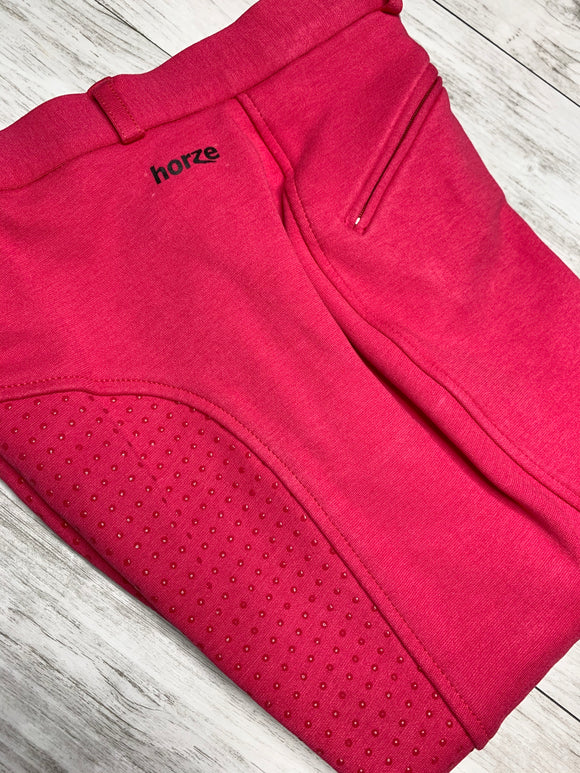 Horze Women's Active Full Seat Breeches - Virtual Pink