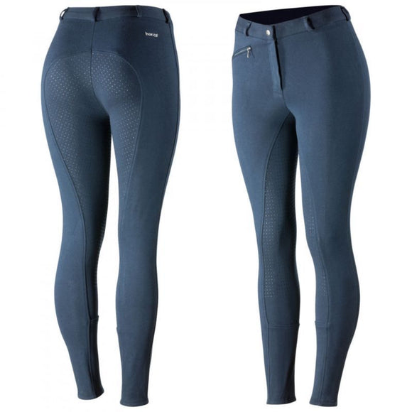Horze Women's Active Full Seat Breeches - Peacoat Dark Blue