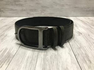 Olive Microdot with Gunmetal Signature Spur Belt